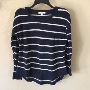 Madewell High low striped sweater size S